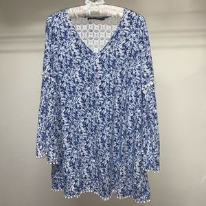 Doe & Rae Anthropologie Womens Top Blue Size Large